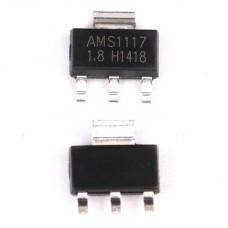 AMS1117-1.8, Линейный регулятор, 800мА, 1-8В, [SOT-223]