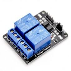 Модуль реле  2 канала с опторазвязкой