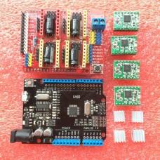 Набор Arduino+Шилд+4 драйвера A4988 для шаговых двигателей
