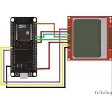 Подключение дисплея Nokia 5110 к плате ESP32