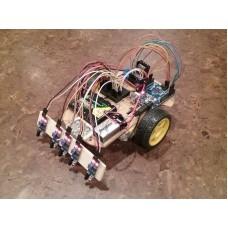 Робот движущийся по линии, с использованием PID управления