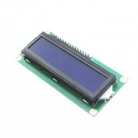 Символьный дисплей LCD1602 IIC/I2C (16x2 символов, синий)